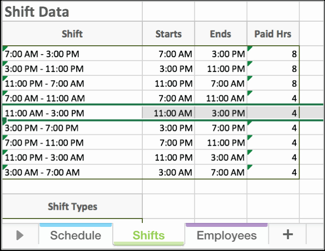 Schedule for Employees Template New Free Excel Employee Scheduling Template
