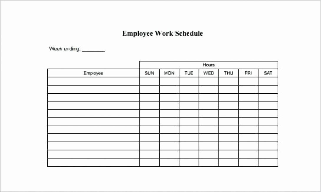 Schedule Of Availability Template Elegant Employee Availability form Template Work Schedule Optional