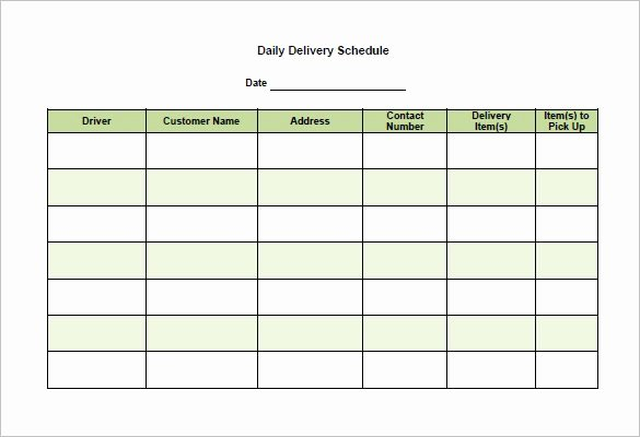 Schedule Of Availability Template Inspirational 15 Delivery Schedule Templates Pdf Doc Xls
