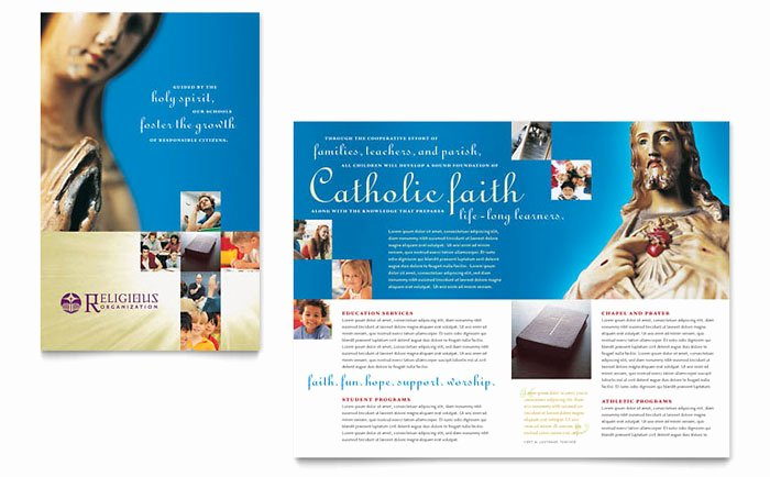 School Brochure Template Free Awesome Catholic Parish and School Brochure Template Design