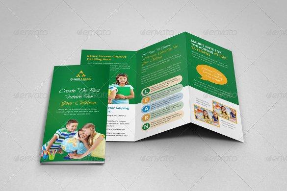 School Brochure Template Free Beautiful Education Brochure Template 25 Free Psd Eps Indesign