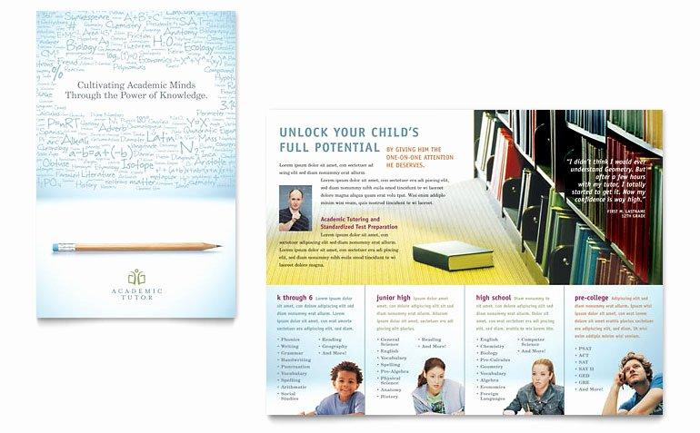 School Brochure Template Free Best Of Academic Tutor & School Brochure Template Word & Publisher