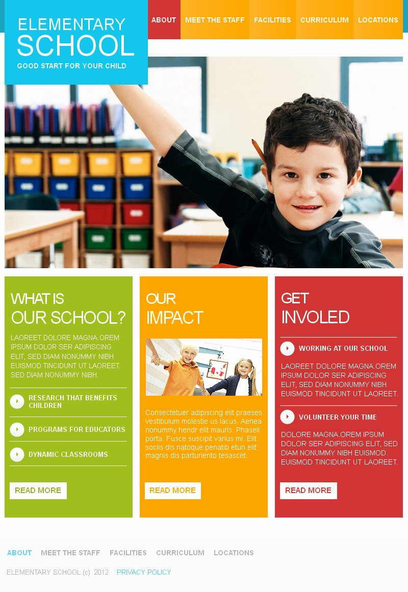 School Brochure Template Free Best Of Primary School HTML Cms Template