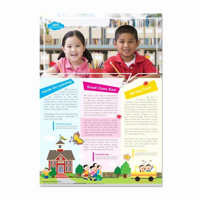School Brochure Template Free Elegant Learning Center & School Flyer Template Dlayouts Graphic