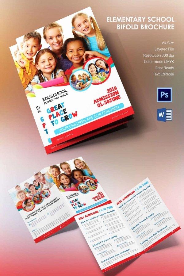 School Brochure Template Free Elegant Microsoft Brochure Template 34 Free Word Pdf Ppt