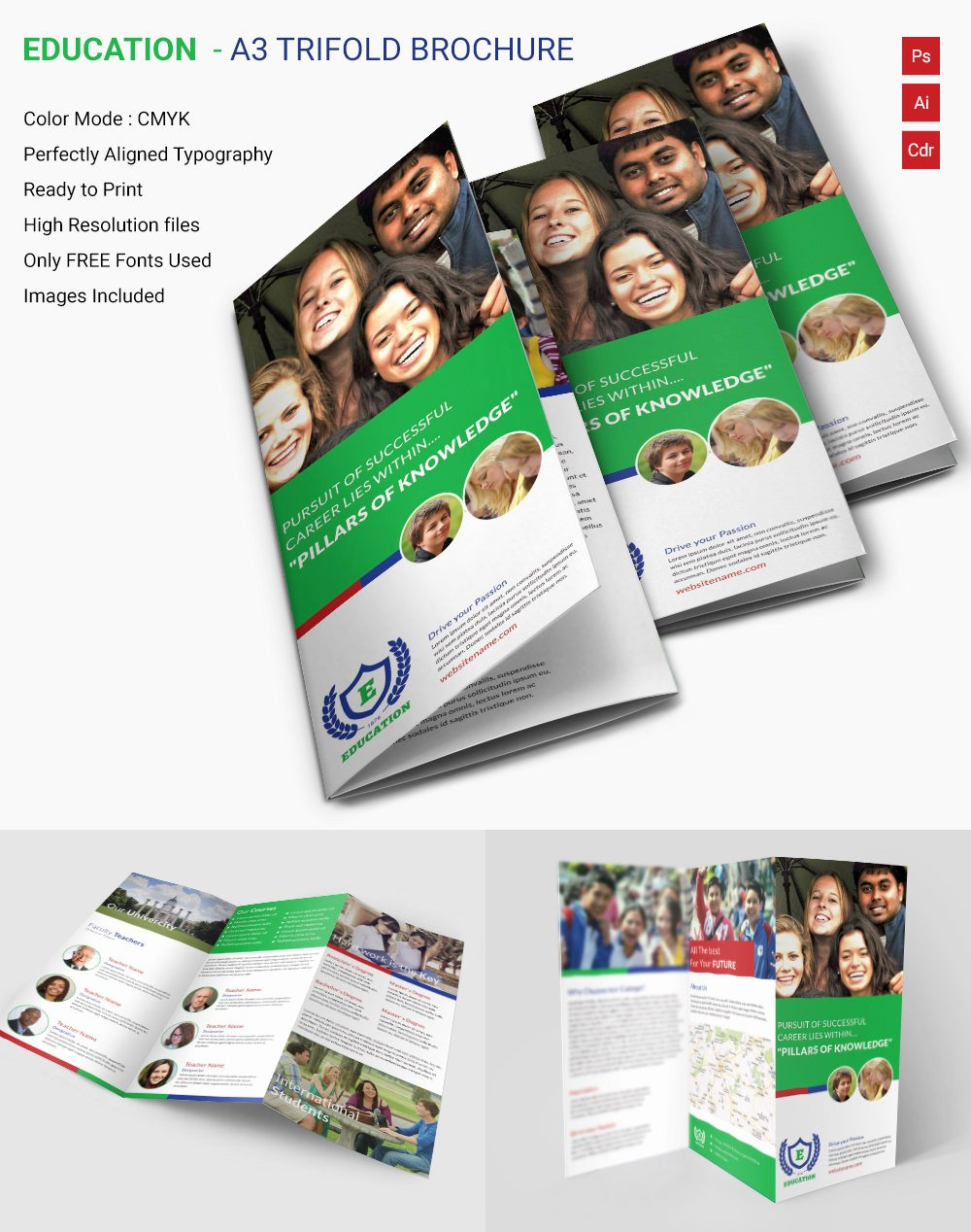 School Brochure Template Free Fresh 19 School Brochure Psd Templates & Designs