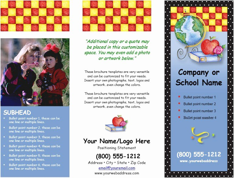 School Brochure Template Free Fresh 24 Free School Brochure Templates format Example