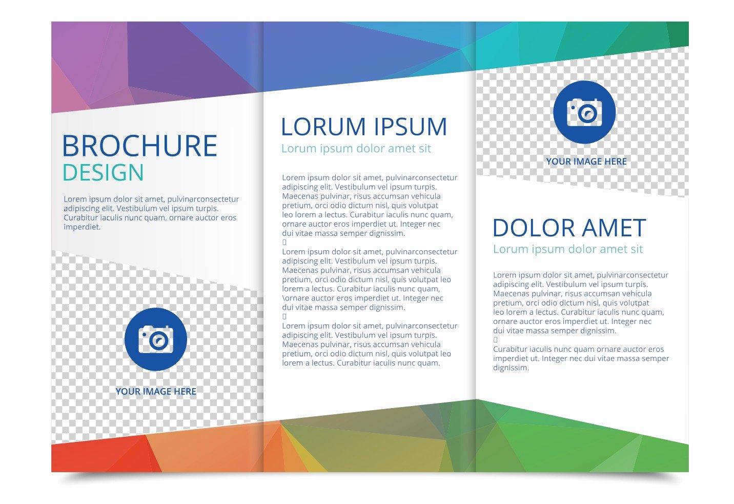 School Brochure Template Free Fresh Tri Fold Brochure Vector Template Download Free Vector