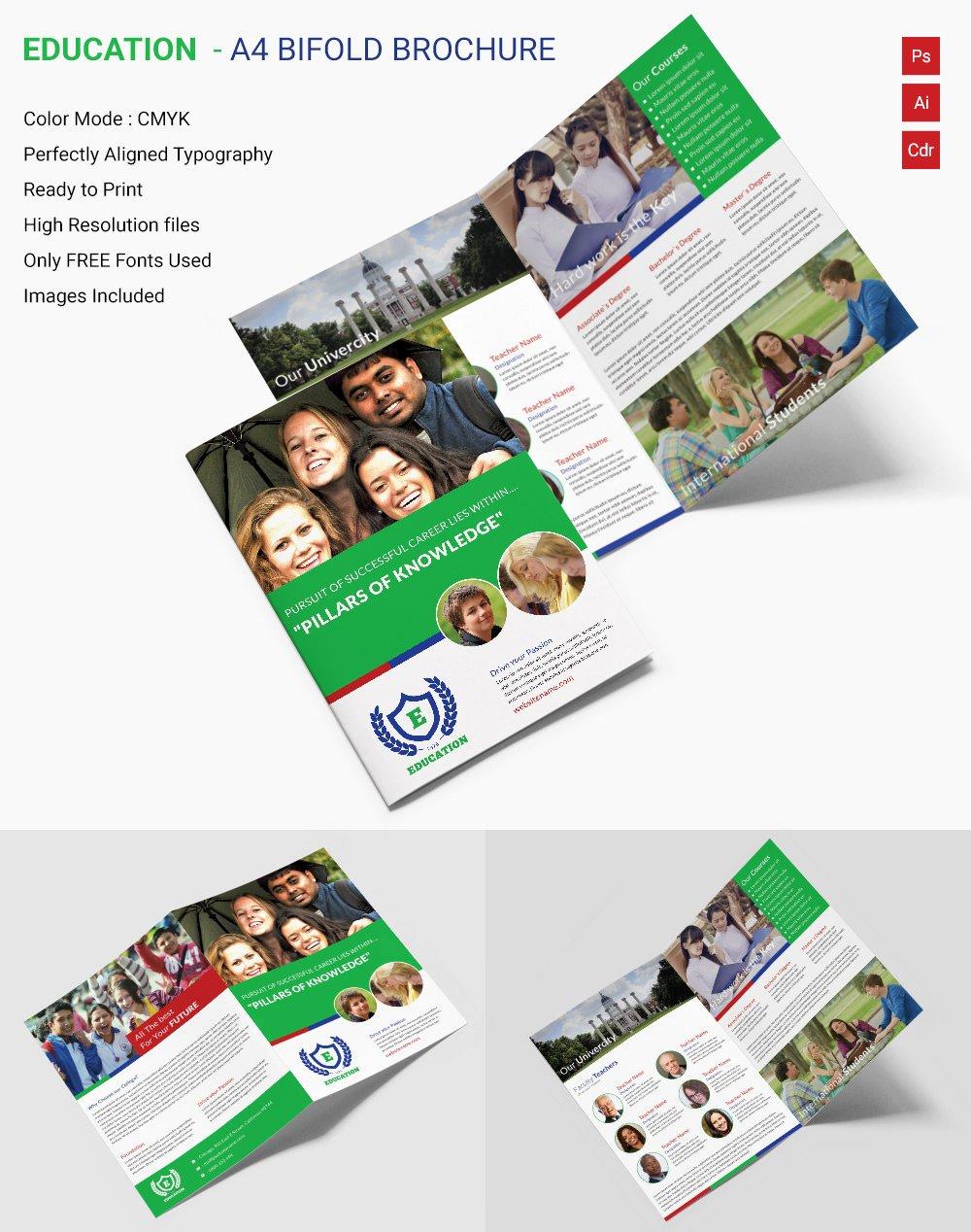 School Brochure Template Free Inspirational Education Brochure Template 43 Free Psd Eps Indesign