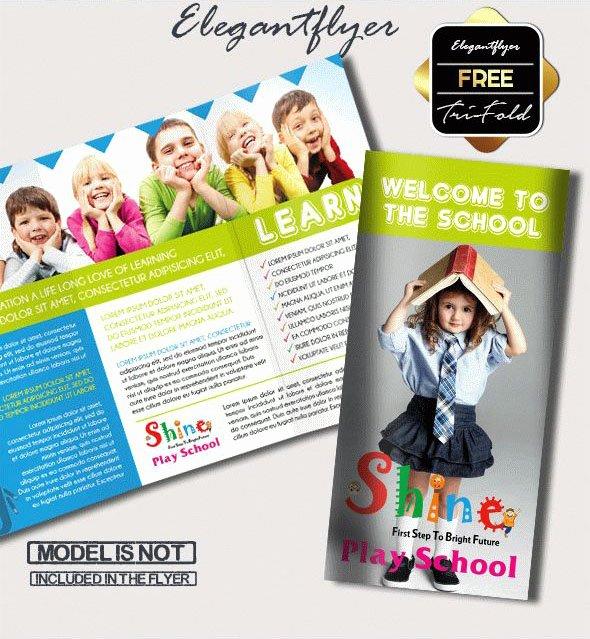 School Brochure Template Free Inspirational Tri Fold School Brochure Template Csoforumfo