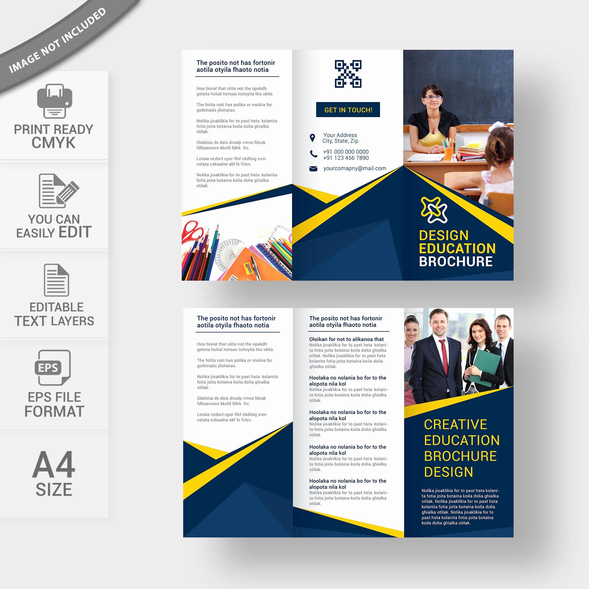 School Brochure Template Free Lovely Education Brochure Template Free Download Vector Wisxi