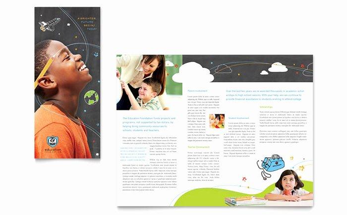 School Brochure Template Free Lovely Education Foundation & School Tri Fold Brochure Template