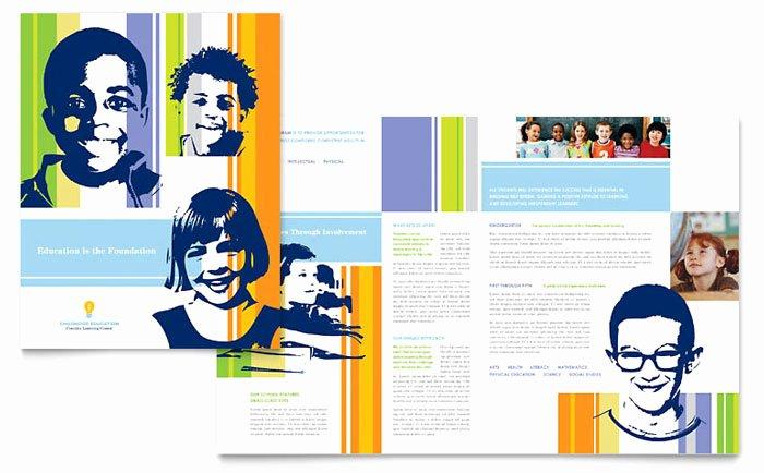 School Brochure Template Free Lovely Learning Center & Elementary School Brochure Template Design