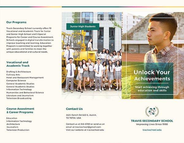 School Brochure Template Free Luxury Education Brochure Template 25 Free Psd Eps Indesign