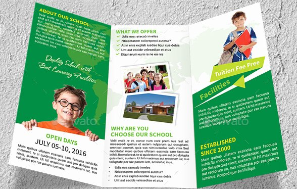 School Brochure Template Free New 10 Awesome School Brochure Templates & Designs