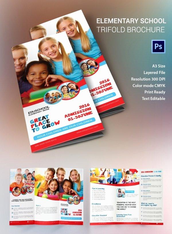 School Brochure Template Free Unique 19 School Brochure Psd Templates & Designs