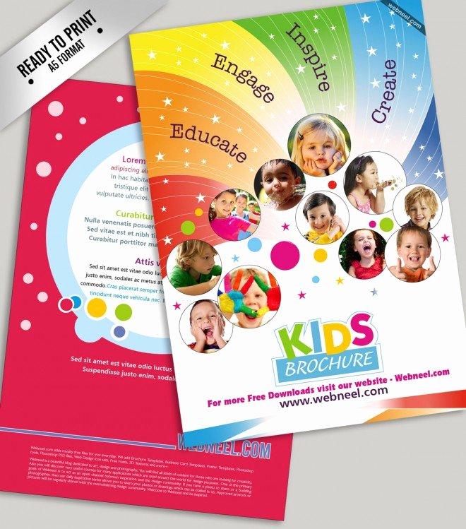 School Brochure Template Free Unique Nursery School Brochure thenurseries