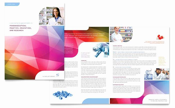 School Brochure Template Free Unique Pharmacy School Brochure Template Design