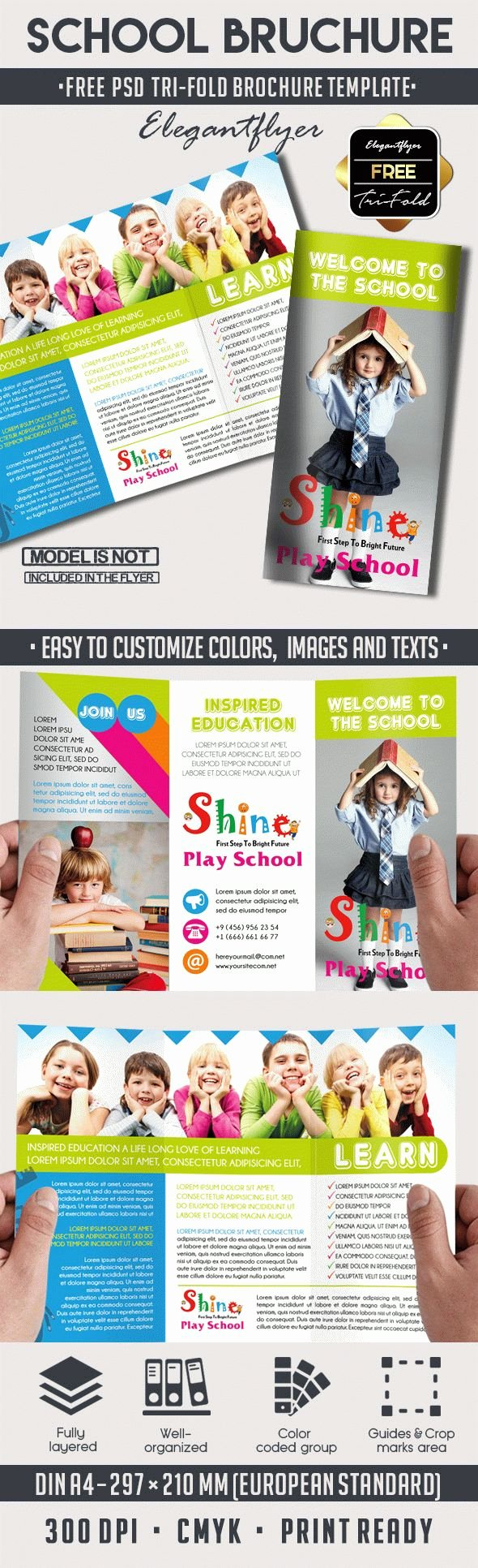 School Brochure Template Free Unique School – Free Psd Tri Fold Psd Brochure Template – by