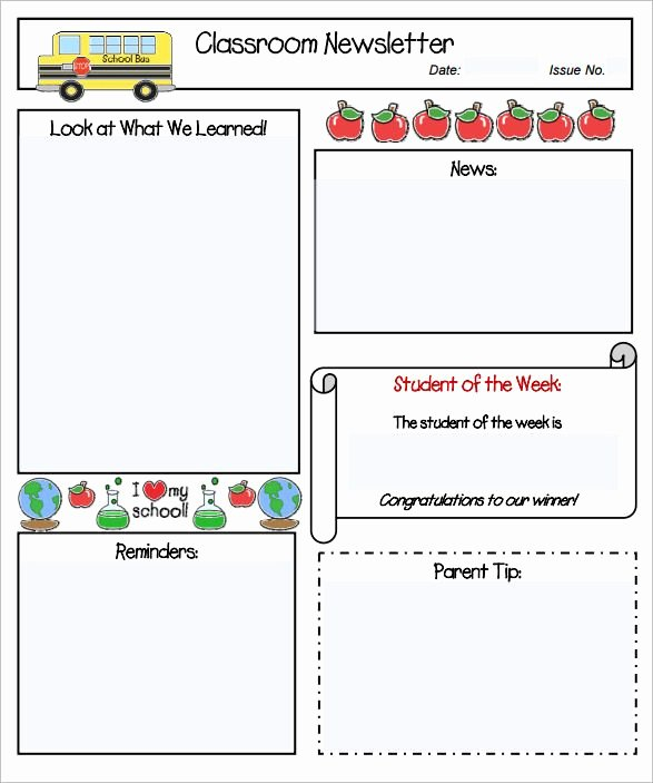 School Newsletter Template Free Beautiful Pin by Stacie Schwark On Classroom Newsletters