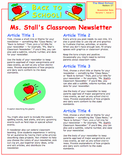 School Newsletter Template Free Best Of School Newsletter Template for Pages Free Iwork Templates