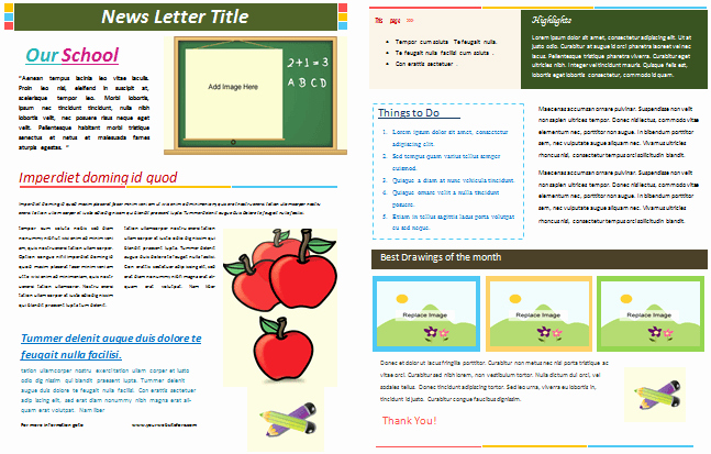 School Newsletter Template Free Best Of School Newsletter Templates for Classroom and Parents
