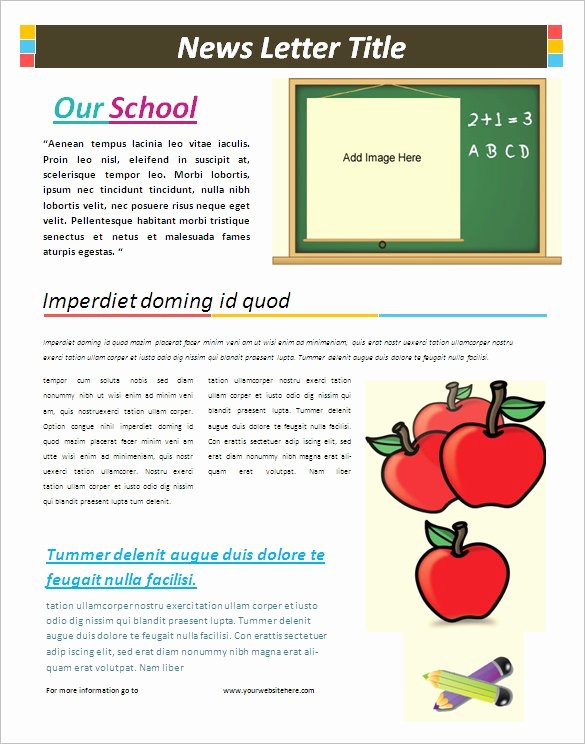 School Newsletter Template Free Fresh 6 School Newsletter Templates – Free Word Pdf format