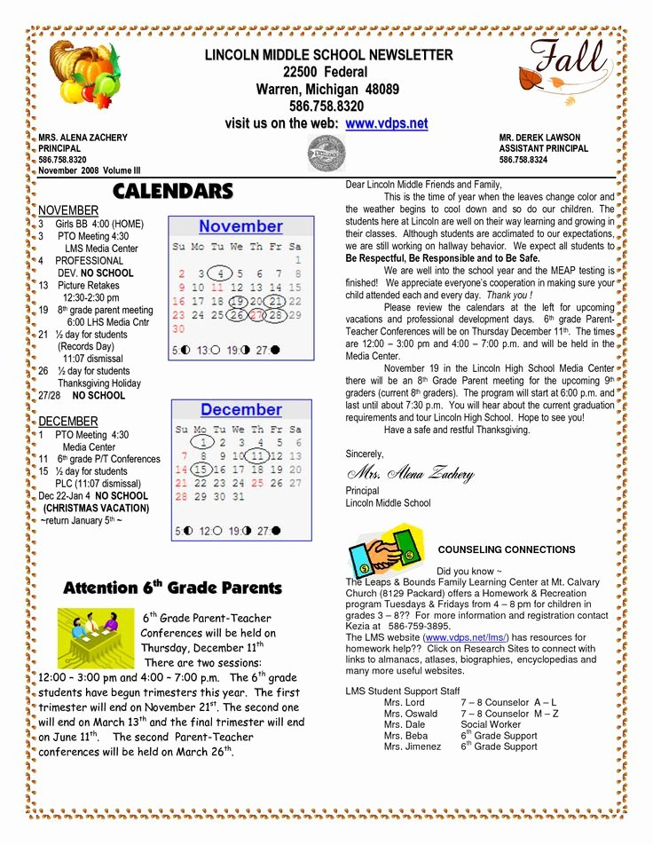 School Newsletter Template Free Fresh School Newsletter Templates