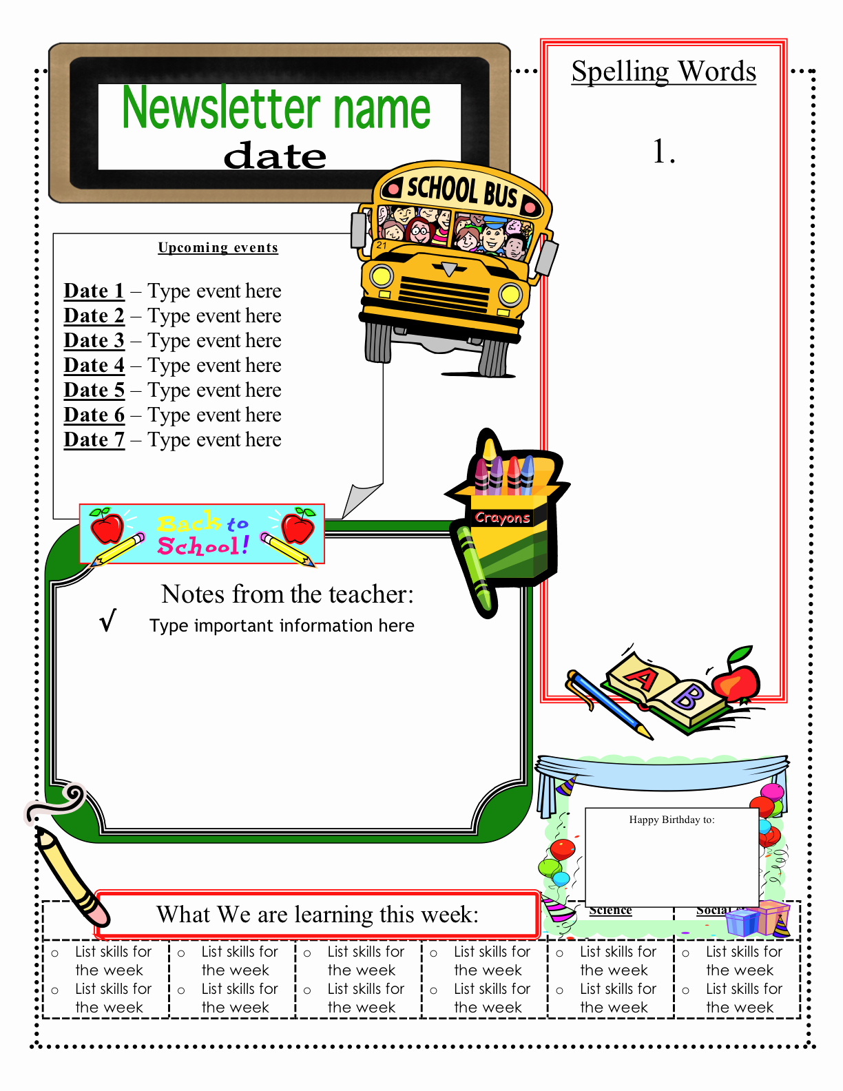 School Newsletter Template Free Inspirational 3 6 Free Resources June 2012