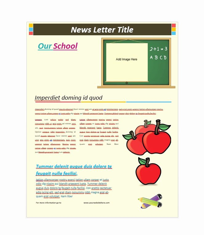 School Newsletter Template Free Inspirational 50 Free Newsletter Templates for Work School and