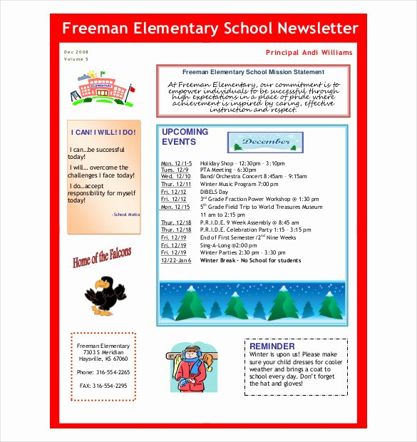 School Newsletter Template Free Inspirational 7 Preschool Newsletter Templates Pdf Doc