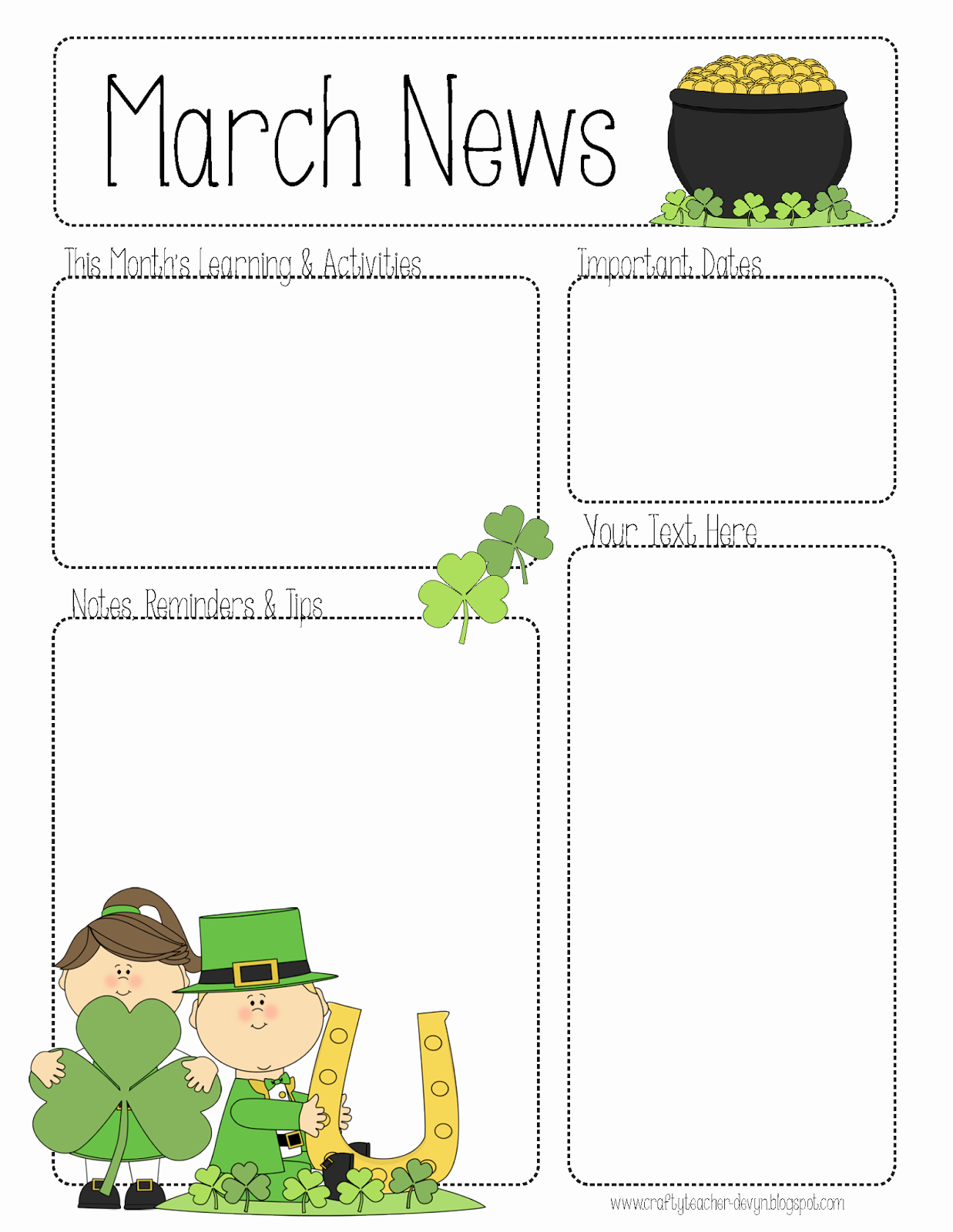 School Newsletter Template Free Inspirational March Newsletter Little Leaders Pinterest