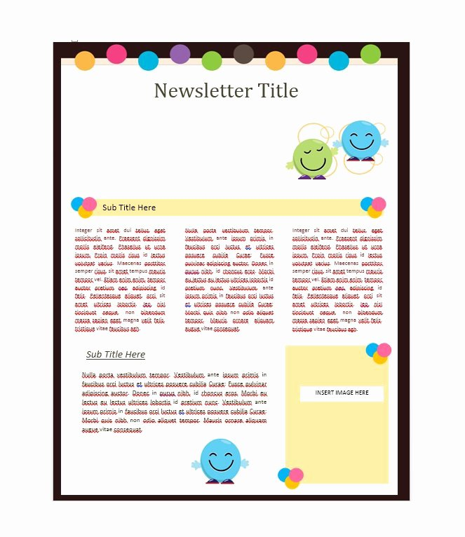 School Newsletter Template Free New 50 Free Newsletter Templates for Work School and Classroom
