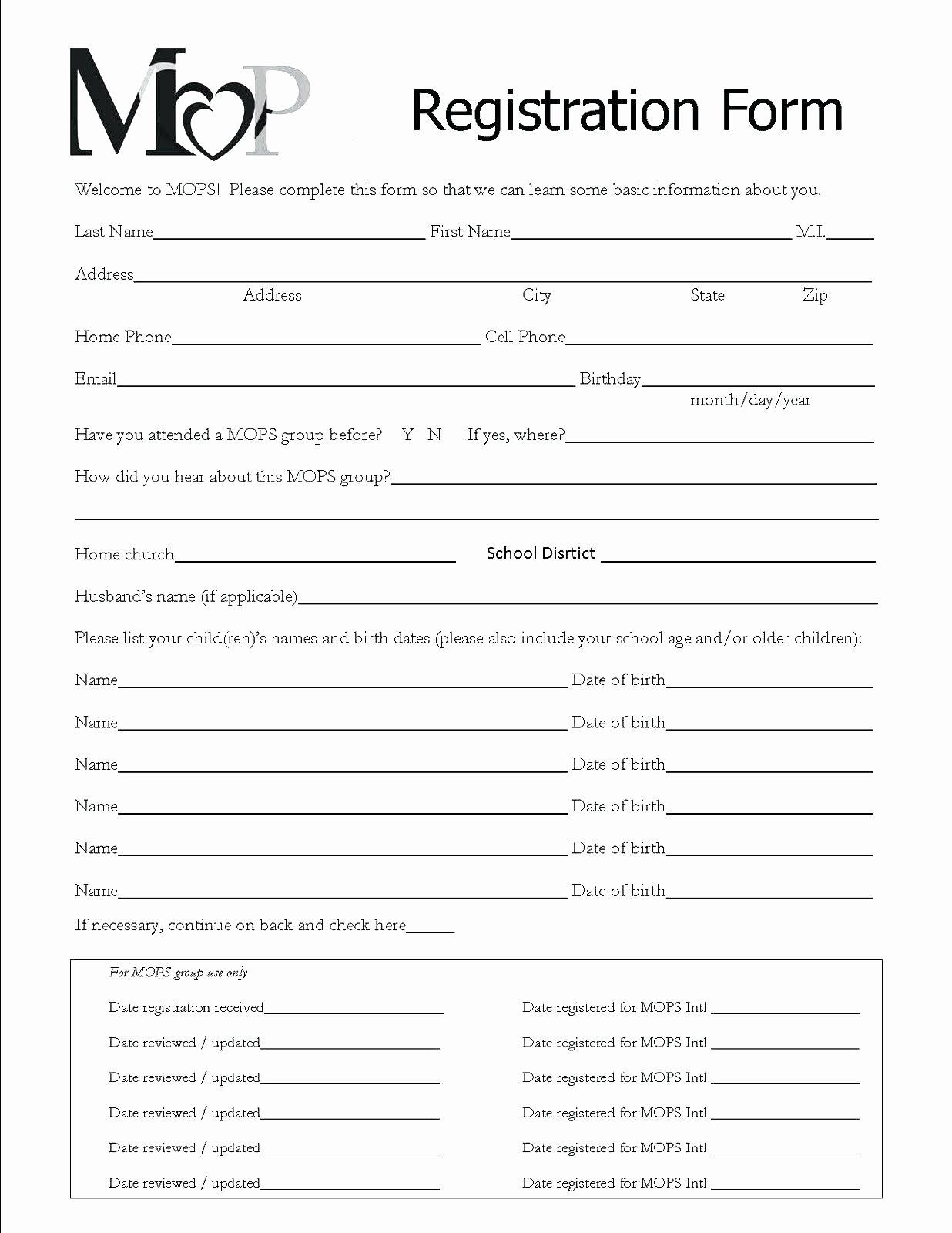 School Registration form Template Elegant Template Enrollment form Template
