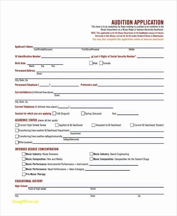 School Registration form Template Lovely High School Registration form Template Alfonsovacca
