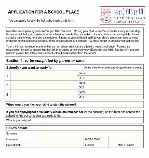 School Registration forms Template Fresh 11 School Application Templates Pdf Doc