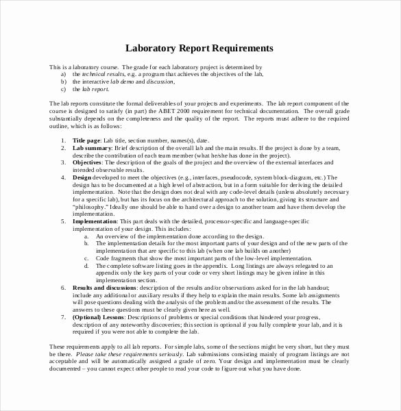 Scientific Lab Report Template Awesome 28 Lab Report Templates Pdf Google Docs Word Apple