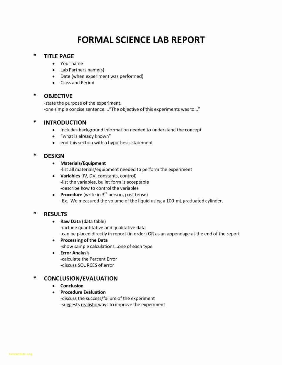 Scientific Lab Report Template Awesome Report Science Experiment Template New Lab Example College
