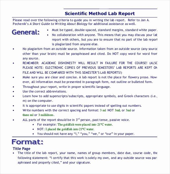 Scientific Lab Report Template Best Of 28 Lab Report Templates Pdf Google Docs Word Apple