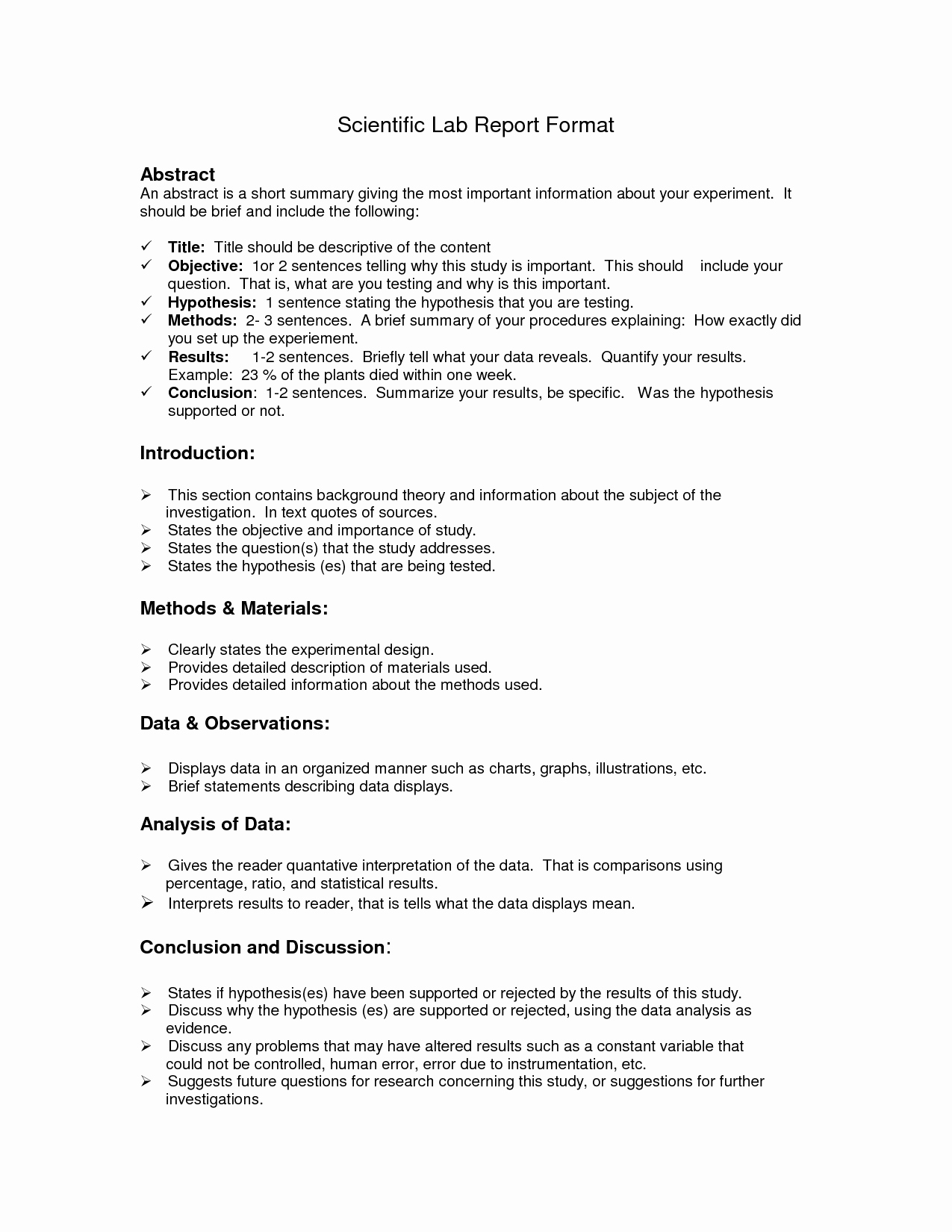 Scientific Lab Report Template Best Of Lab Report format Doc