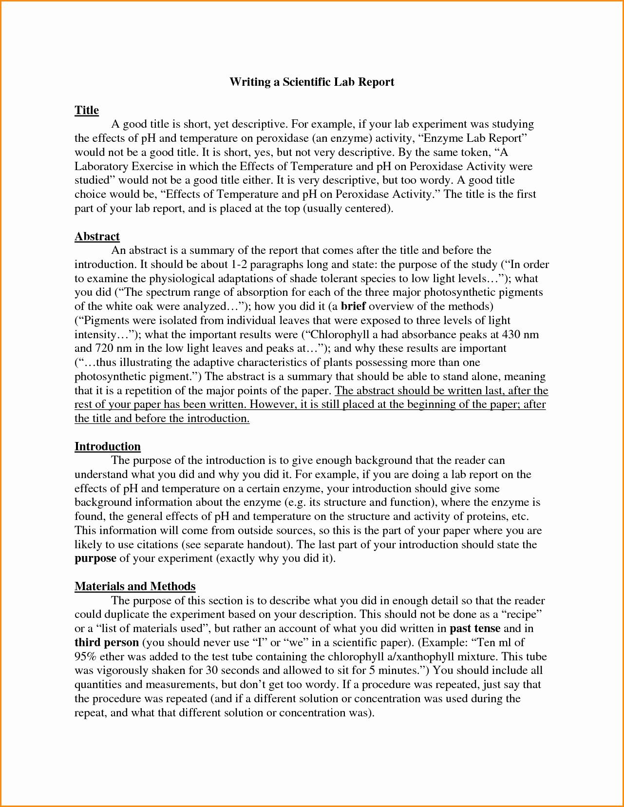 Scientific Lab Report Template Elegant Scientific Report Template Beautiful Template Design Ideas