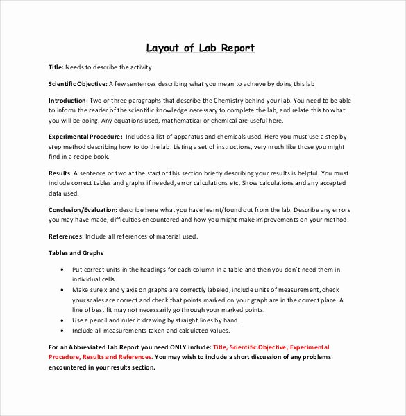 Scientific Lab Report Template Lovely 28 Lab Report Templates Pdf Google Docs Word Apple