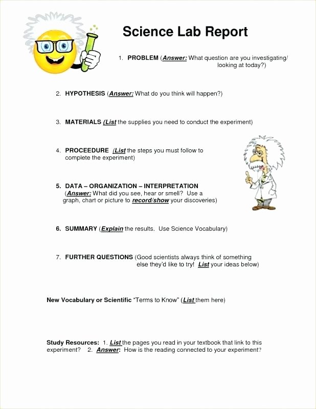 Scientific Lab Report Template Lovely Scientific Report format Template Unique Science Lab See