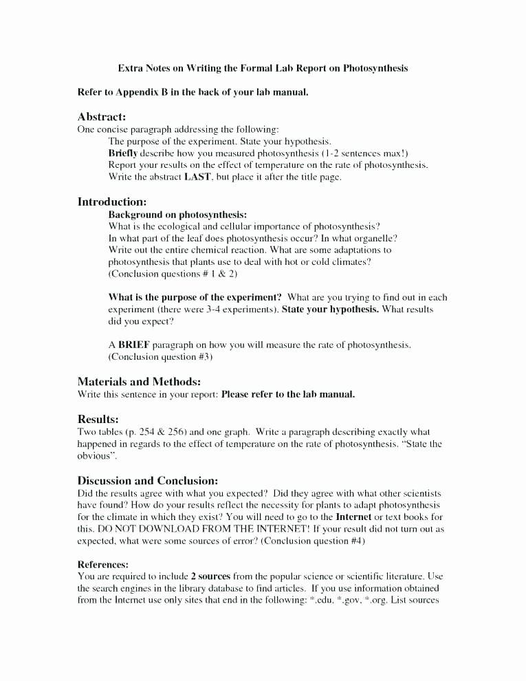 Scientific Lab Report Template Luxury the Lab Report format Download Experiment Science