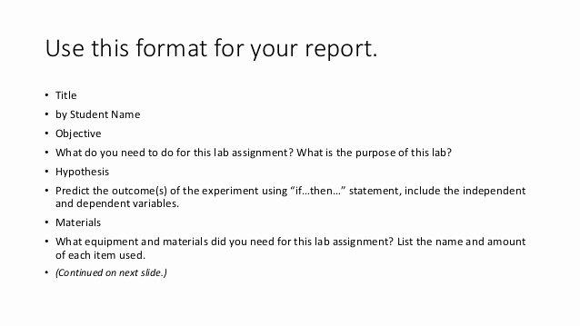 Scientific Lab Report Template New Using the Scientific Method