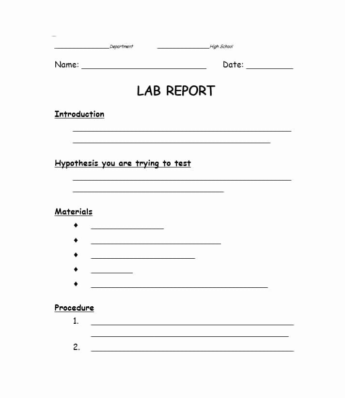 Scientific Lab Report Template Unique 40 Lab Report Templates & format Examples Template Lab