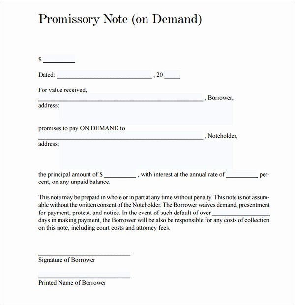 Secured Promissory Note Template Pdf New Promissory Note 22 Download Free Documents In Pdf Word