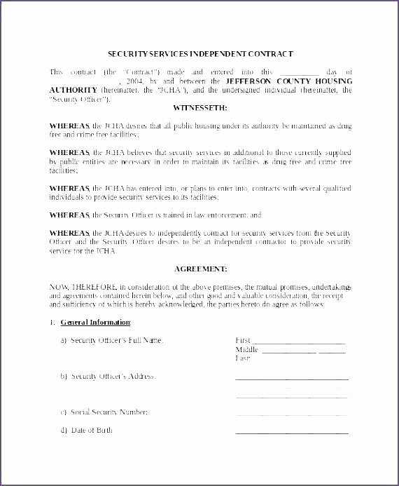 Security Guard Contract Template Best Of Security Guard Proposal Template Security Proposal