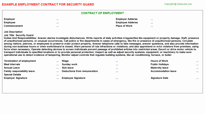 Security Guard Contract Template Inspirational Best S Of Correctional Ficer Report Writing