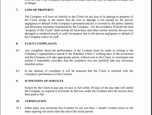 Security Guard Contract Template New Security Services Contract Template – Jmjrlawoffice